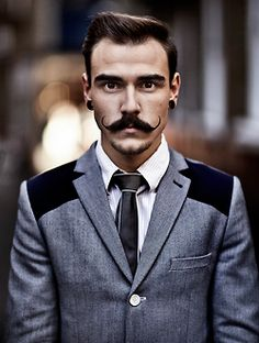 Greg T. Brown - Love his moustache Handlebar Mustache, Beard No Mustache, Mustache Growth, Moustaches, Suit Up, Style Retro, Hair And Beard Styles, Gentleman Style, Facial Hair