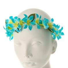 Aqua Lily Flower Headwrap
