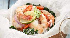Prawn Parcels Recipe - New Zealand Womans Weekly Prawn, Shrimp, Fresh Rolls, New Zealand, Potato Salad, Seafood, Clean Eating, Gluten Free, Ethnic Recipes