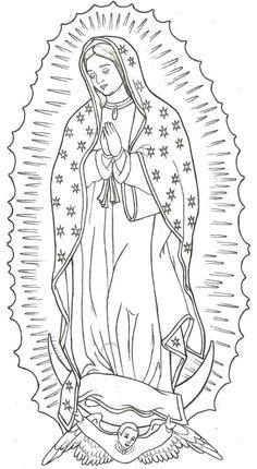 Popular Advices How To Draw La Rosa De Guadalupe Drawing La Virgen De Guadalupe Kunst Tattoos, Tattoo Drawings, Body Art Tattoos, Sleeve Tattoos, Art Drawings, Maria Tattoo, Mother Mary Tattoos, Christ Tattoo, Silkscreen