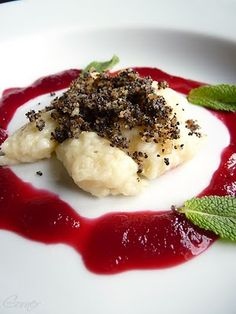 : Sunchoke Gnocchi with Fresh Goat Cheese in Blood Orange-Beet Sauce ...