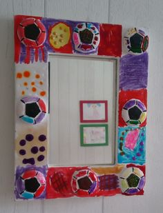 mirror frame made by kid