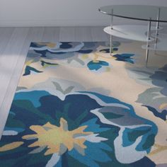 Alfort Hand-Hooked Cobalt Indoor/Outdoor Area Rug