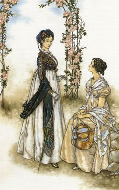 Lady Russell and Anne Elliot by ~Himmapaan on deviantART