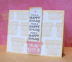 Love these typewriter cards.