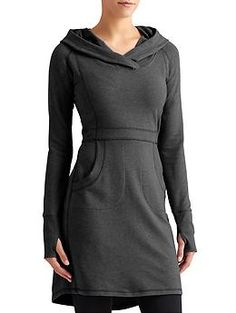 Cooldown Sweatshirt Dress - Your favorite hoodie gets all dressed up in this super-soft Pima cotton/modal blend French terry dress.