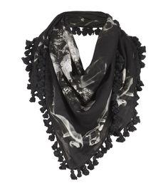allsaints villain square scarf
