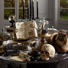 No Doubt, Pier 1 Imports Has the Coolest Halloween Decor of 2017 — See Our 21 Favorites Halloween-lovers, you're going to need to sit down for this one. Pier 1 Imports just released its collection for the holiday, and it's incredible. Retro Halloween, Halloween Tisch, Table Halloween, Halloween 2018, Halloween Dinner, Halloween Home Decor, Holidays Halloween, Scary Halloween, Halloween Cloche