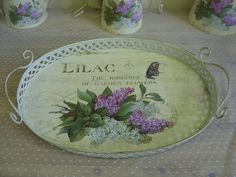 Shabby Vintage Style Chic Lilac Romance Garden Butterfly Cream Metal Oval Tray | eBay