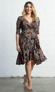 Flirty Flounce Wrap Dress