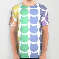 All Over Print Shirt featuring Rainbow Cats by Megan Hillier