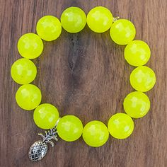 Neon Citrus Agate with Pineapple