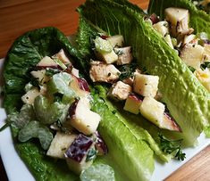 Simple Apple and Chicken Salad Lettuce Cups   Ingredients: 1/2 apple, diced into small cubes 1 cooked chicken breast, chopped into small pieces 1 celery stalk, diced into small slices 1 tablespoon mayo or sour cream 2tsp fresh parsley finely chopped butter lettuce leaves  Instructions: put the chicken, apple, celery into a bowl and top with mayo, toss until evenly coated …