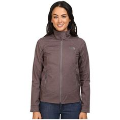 The North Face Calentito 2 Jacket (Rabbit Grey Heather) Women's Jacket ($69) ❤ liked on Polyvore featuring outerwear, jackets, the north face jackets, the north face, lightweight zip jacket, zipper jacket and heather grey jacket