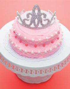 Pink Princess Birthday Cake