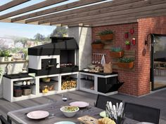 An outdoor kitchen can be an addition to your home and backyard that can completely change your style of living and entertaining. Patio Vintage, Vintage Patio Furniture, Cheap Patio Furniture, Backyard Kitchen, Outdoor Kitchen Design, Patio Design, Small Outdoor Patios, Outdoor Rooms, Small Outdoor Kitchens