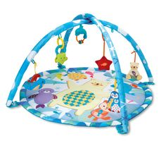 Lay your child down for engaging activity on this fun Polar Fiesta play gym from Winfun. This portable play gym features removable rattles that are easy to keep clean for your child's health and safety.Winfun is the leading Supplier of Outdoor & Indoor Pl Baby Play Mat Gym, Play Gym, Toddler Age, Toddler Toys, Polaroid, Toys For Us, Best Baby Toys, 6 Month Old Baby, Babies First Christmas
