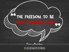 One of the best ways to conquer pain is in the freedom to get hurt. #Freedom #Pain #OriginalQuotes #VictorManickam