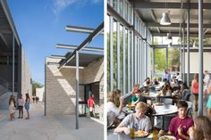 I WORK HERE. Dining Hall and Student Center at St. Stephen's Episcopal School, completed with Andersson Wise Architects.