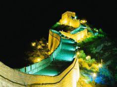 Great Wall of China at night
