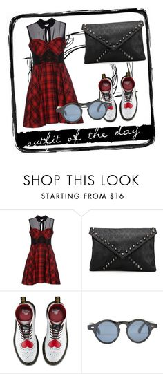 """FOOTD 3"" by that-kid-in-the-back ❤ liked on Polyvore featuring Mangano, Dr. Martens and Tim Holtz"