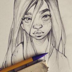 artblog of lois van baarle | www.loish.net . Character Sketch / Drawing