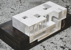 Favourite one - Sectional model - made out of wood, painted in white with different coverage to highlight the section cut. Not sure how I can make the arches neatly, should I make it out of different blocks of wood as well, or try to make it from a solid block?