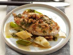 Chicken Breasts with Walnuts, Leeks and Candied Lemon Recipe - Angela Hartnett | Food & Wine