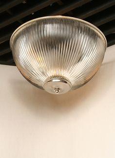 Vintage Halophane Semi Flush, c. 1950. www.myrlg.com #vintage #lighting