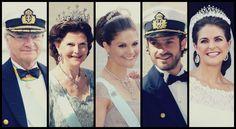 ifreakinglovetheroyals:  Swedish Royal Family Weddings: 2013-King Carl Gustaf, Queen Silvia, Crown Princess Victoria, Prince Carl Philip, Princess Madeleine