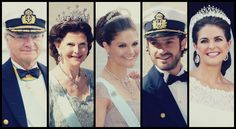 ifreakinglovetheroyals:  Swedish Royal Family Weddings: 2013-King Carl Gustaf, Queen Silvia, Crown Princess Victoria, Prince Carl Philip, Princess Madeleine