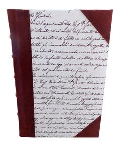 Italian Script Half Leather Journal