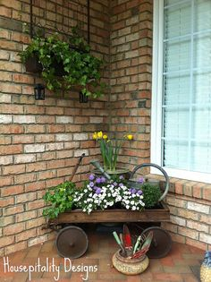 Front Porch Vignette for Spring by shirleystankus,