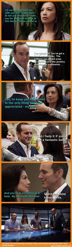Undercover || Melinda May, Phil Coulson || Agents of B.L.U.T.H. || #fanedit #humor #philinda