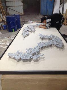 方钜艺术  QQ 2809847120 Ceramic Wall Art, 3d Wall Art, Wall Art Decor, Contemporary Art Artists, Chinese Contemporary Art, Wall Sculptures, Sculpture Art, Acoustic Wall Panels, Inspirational Artwork