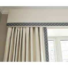 Samuel and Sons Passementerie Interior Design Curtains, Interior Windows, Corner Window Treatments, Window Coverings, Drapery Panels, Curtains With Blinds, Valances, Wall Decor Design, Passementerie