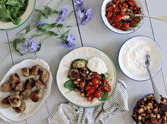 kryddig falafel med chilipotatis, tomatsalsa och vitlöksyoghurt vegetariskt recept enkel mat lättlagat lättlagad