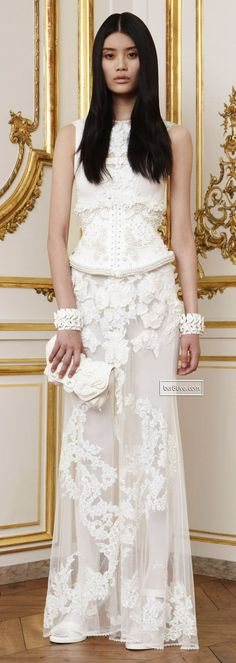 Ming Xi - Givenchy Love except for that odd strip of pearls at the hip line, streamline it and it's wonderful!