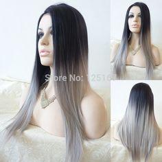 Grey balayage wig