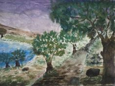 """""""A path into the unknown"""" Painted by Fadi Abu-Deeb"""