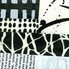 I did a guest post on StencilGirlTalk today, which includes a video . Have a look. Here are a few of the collages I made using the paper...