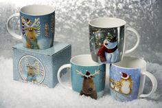 Hrníčky z porcelánu s vánočními designy od Jan Pashley. #vánoce #hrnek #christmas #mug