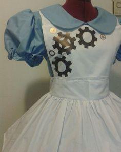 LAST Steampunk Alice in Wonderland Costume Steam Punk Gothic Lolita Dress and Apron Halloween Costume Cosplay Womens Small. $234.95, via Etsy.