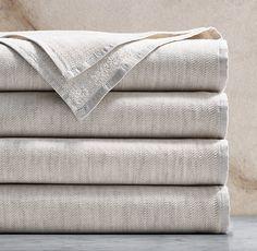 towel | restoration hardware | linen, cotton | beige | $40/30 bath towel, $30/22 hand towel, $15/11 washcloth, $50/36 bath mat