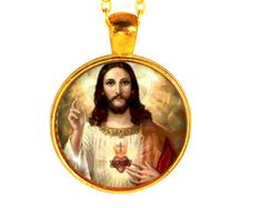 Jesus Christ, Jesus Necklace, Christianity Necklace, Jesus Jewelry, Christian Gifts, Jesus Pendant, Christ Necklace, Christ Pendant, Jesus
