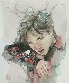 Shoma Uno watercolor @tomboy_chinatsu on Instagram