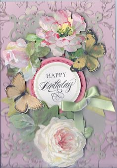 Card created from Anna Griffin card kit.