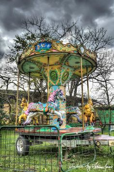Carousel for four.  Colors are gorgeous.                                                                                                                                                     More