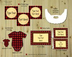 lumberjack baby shower   Piggy Bank Parties > Baby Showers > Lumberjack Baby Collection : Print ...