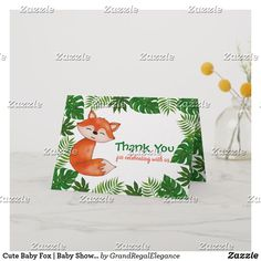 Cute Baby Fox | Baby Shower | Thank You Fox Baby, Baby Shower Thank You Cards, Thank You Notes, Cute Babies, Funny Babies, Cute Kids